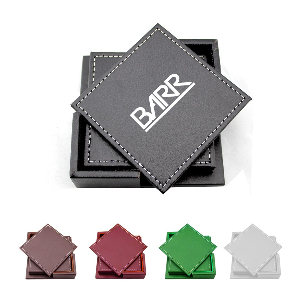 Faux Leather Coasters with Box