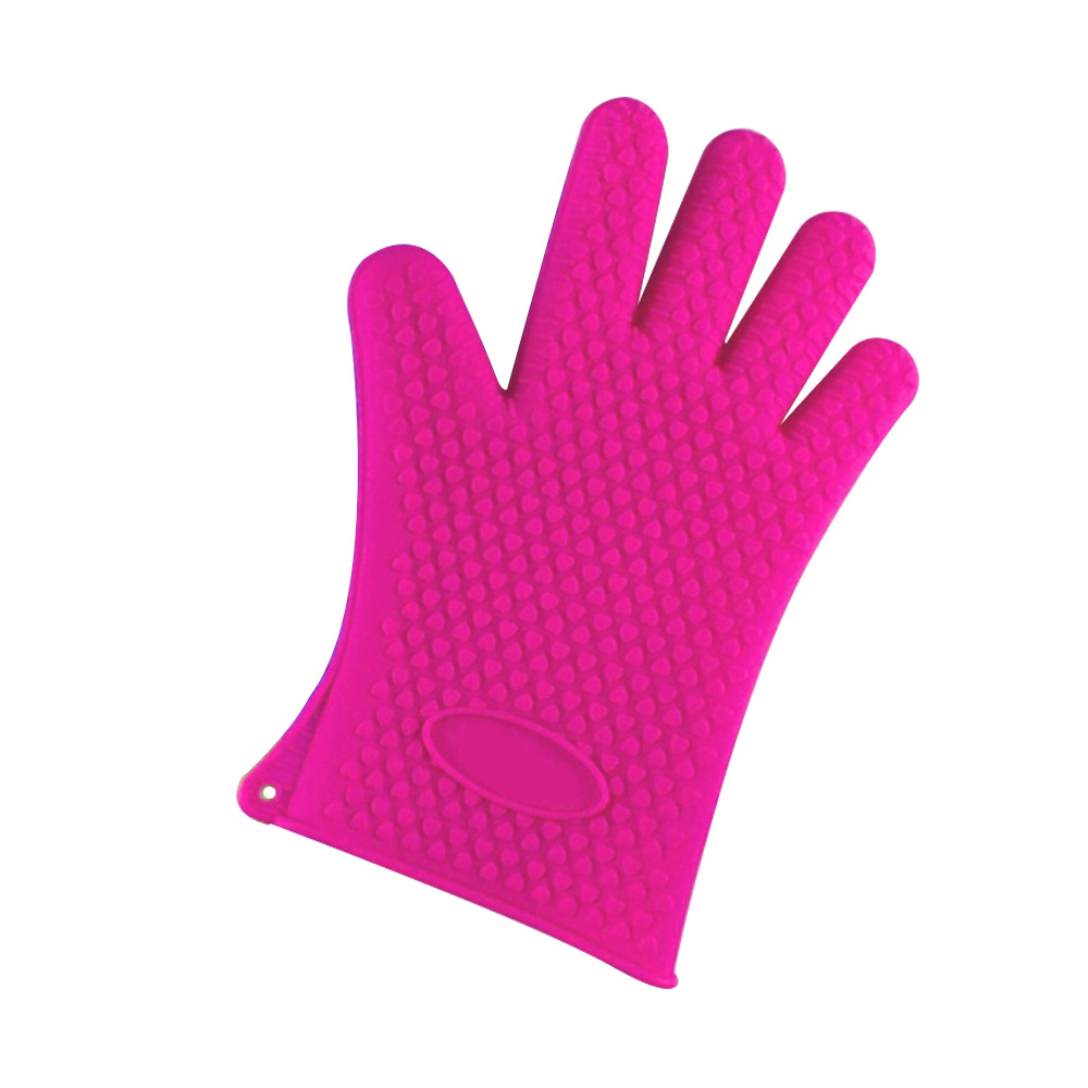 Heat Resistant BBQ Cooking Silicone Oven Glove Mitt