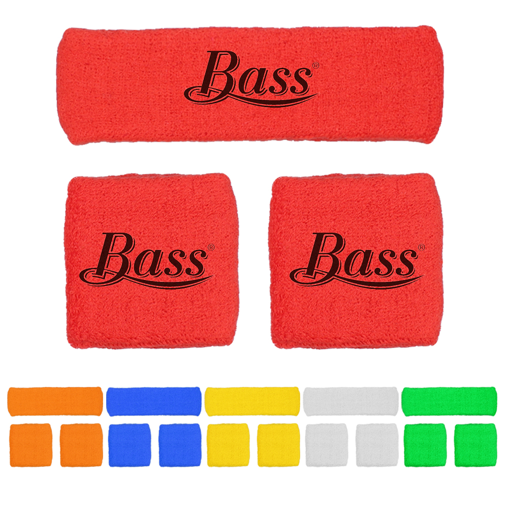 Combo Set Sweatband Cotton Wristbands 2 Headband