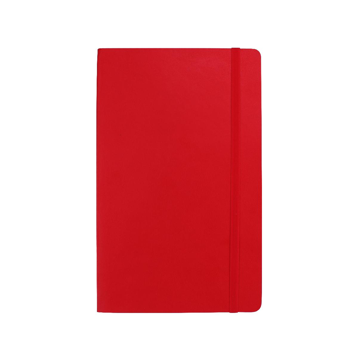 QNOTE Soft PU Notebook With Pocket - Large