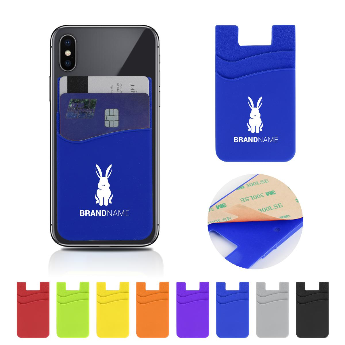 Double Pocket Silicone Phone Wallet