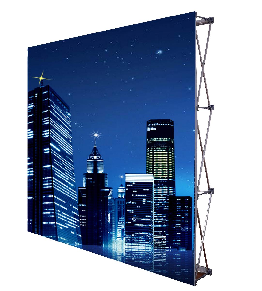 8ft. Backdrop Retractable Custom Pop Up Display With Face Graphic Kit