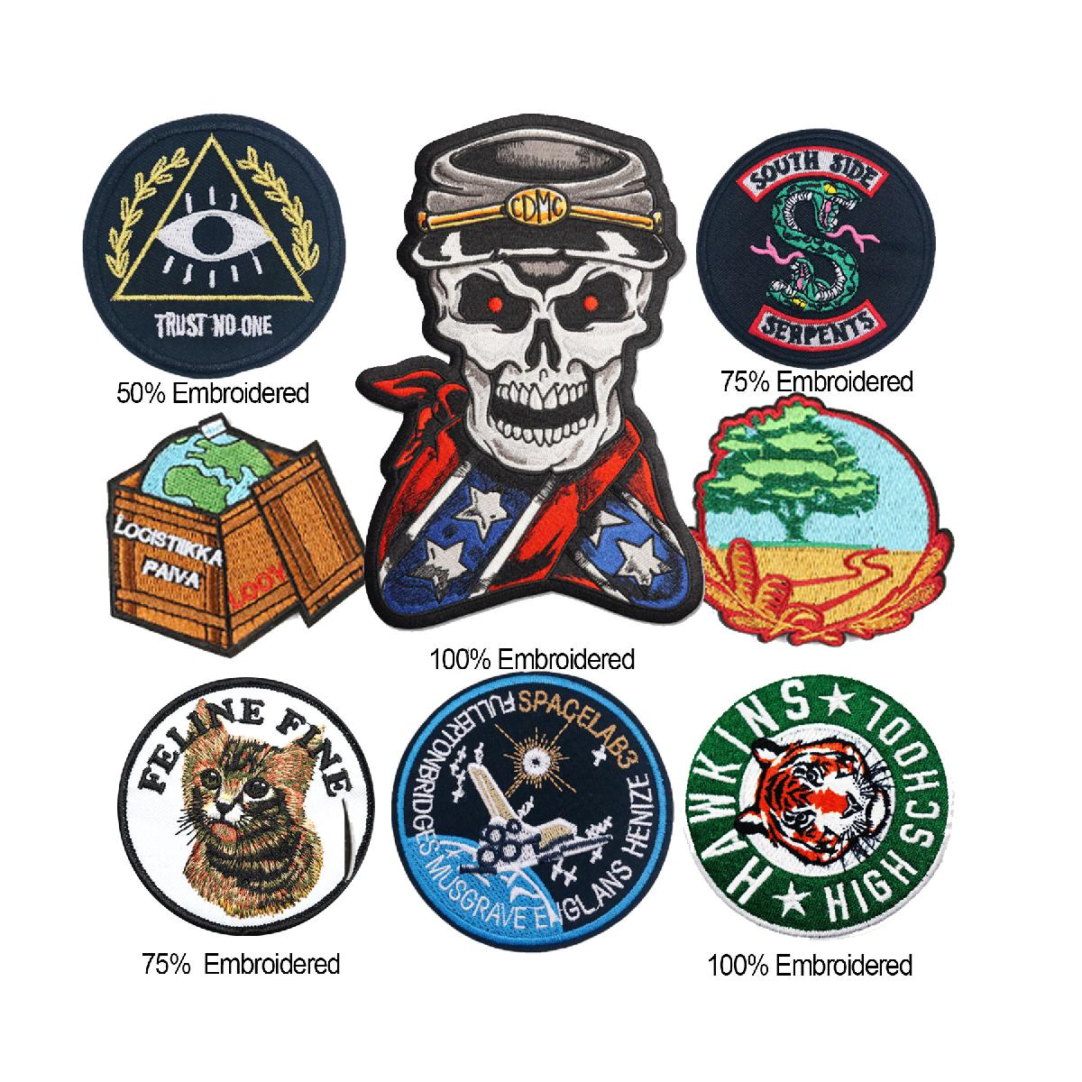"5"" Custom Embroidered Patch / 100% Thread Coverage"