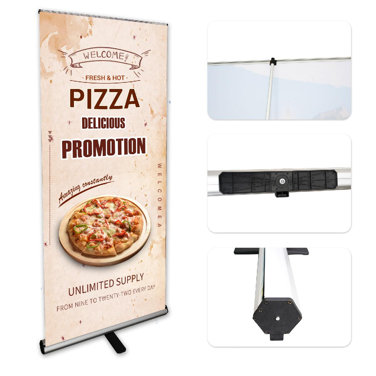 "31.5"" Retractable Banner Stand w/Graphic"