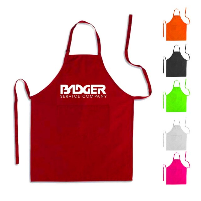 100% Polyester Kitchen Bib Aprons - 100% Polyester Kitchen Bib Aprons