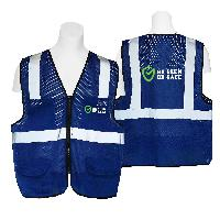High Visibility Safety Vest Mesh 4 Pockets - High Visibility Safety Vest Mesh 4 Pockets