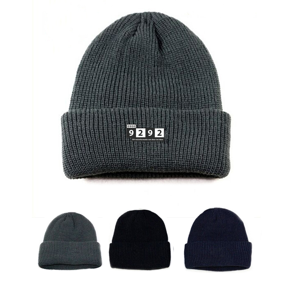 Acrylic Beanie with Logo label - Acrylic Beanie with Logo Label