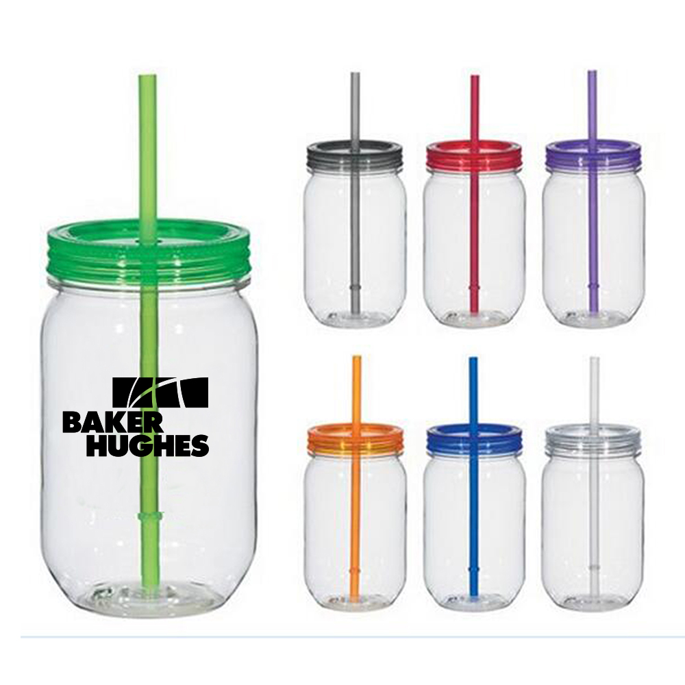 16 OZ Plastic Mason Jar - Hot sale 16 oz plastic mason jar