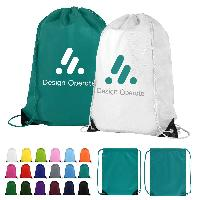 Budget Custom Drawstring Bag with Reinforced Corners - Budget Custom Drawstring Bag with Reinforced Corners