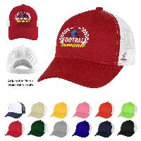 5 Panel Structured Mesh Back Cap - 5 Panel Structured Mesh Back Cap