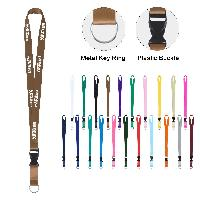 "3/4"" Full Color Lanyard With Detachable Buckle and Split Ring - 3/4"" Full Color Lanyard With Detachable Buckle and Split Ring"