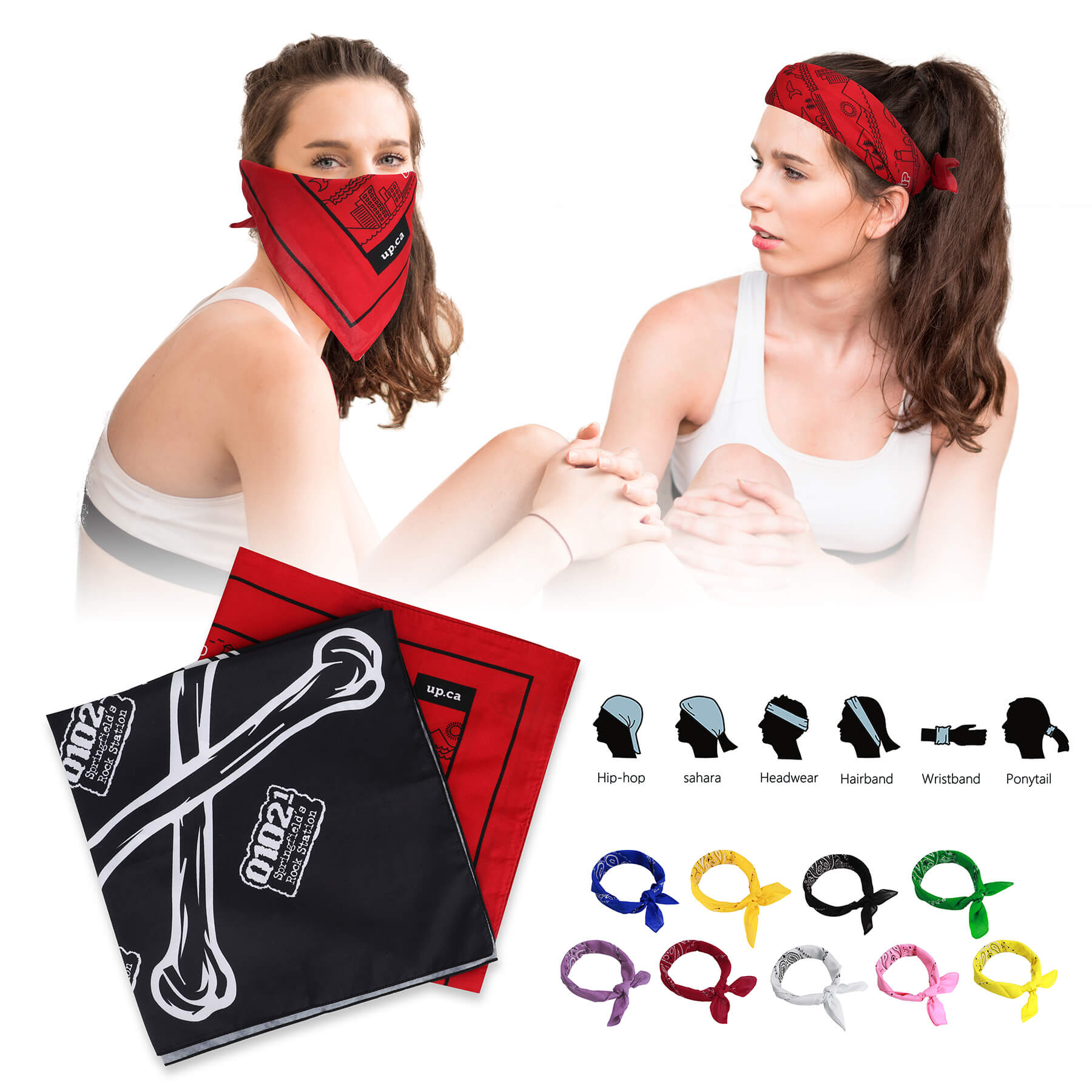 "22"" Full Color Sublimated Face Covering Bandana - 22"" Full Color Sublimated Face Covering Bandana"