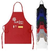 "28"" x 24"" Full Length Cotton Blend Custom Bib Apron - 28"" x 24"" Full Length Cotton Blend Custom Bib Apron"
