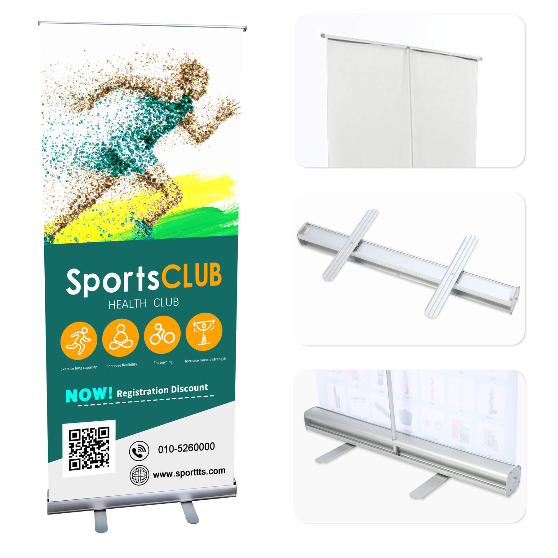 "31.5"" x 79"" Econo Standard Retractable Banner Stand - 31.5"" x 79"" Econo Standard Retractable Banner Stand"