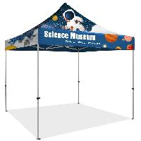 10' x 10' Commercial Grade Steel Pop Up Tent w/ Dye Sublimation - 10' x 10' Full Color Pop Up Tent / Steel Frame