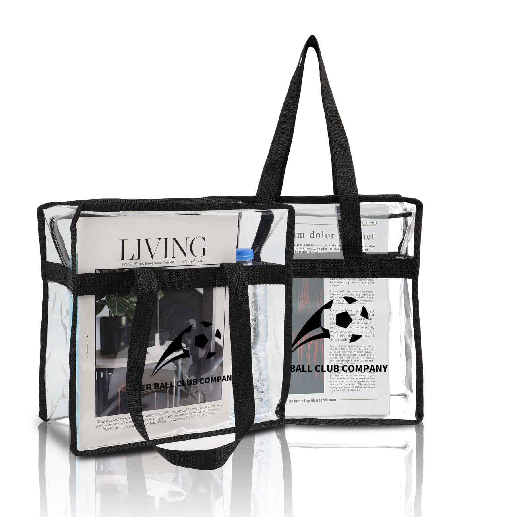 Clear Tote Bag With Zipper Closure - Clear Tote Bag With Zipper Closure