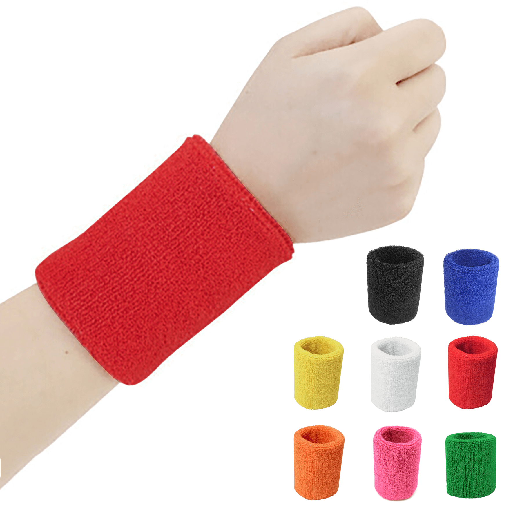 Custom Embroidered Terry Cotton Sports Wristbands - Custom Embroidered Terry Cotton Sports Wristbands