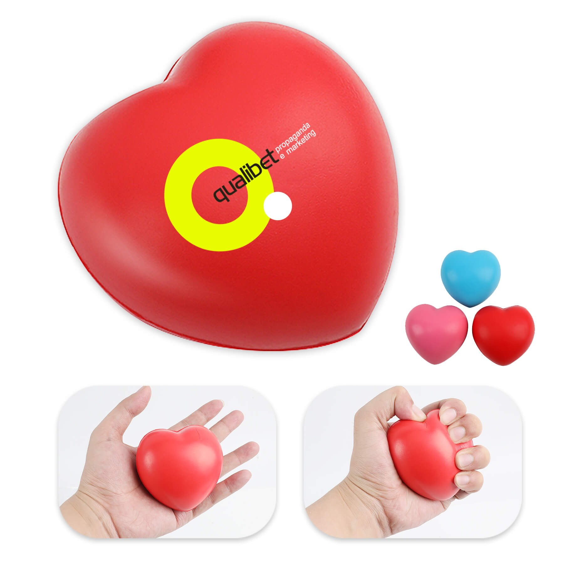Heart Shaped Stress Reliever Squeeze Ball - Heart Shaped Stress Reliever Squeeze Ball