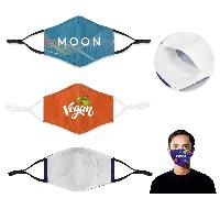 2-ply Sublimated 3D Face Mask with Filter Pocket and Nose bridge-reusable - 2-ply Sublimated 3D Face Mask with Filter Pocket and Nose bridge-reusable