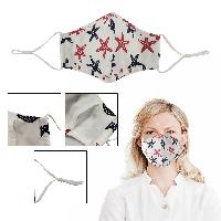4 Ply Full Color Adjustable Face Mask - 4 Ply Full Color Adjustable Face Mask